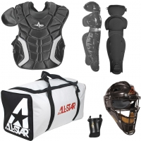 All-Star CK1216PS Player's Series Catcher's Equipment Kit, INTERMEDIATE, ages 12-16