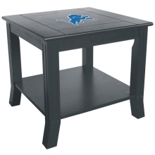 Detroit Lions NFL Hardwood Side/End Table
