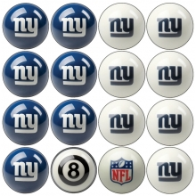 New York Giants NFL Home vs Away Billiard Ball Set