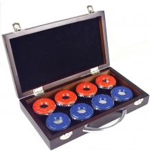 Carmelli Shuffleboard Pucks in Wooden Box
