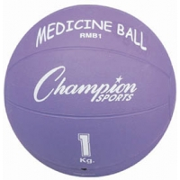 Champion RMB1 Rubber Medicine Ball, 1 Kilo / 2 lb.