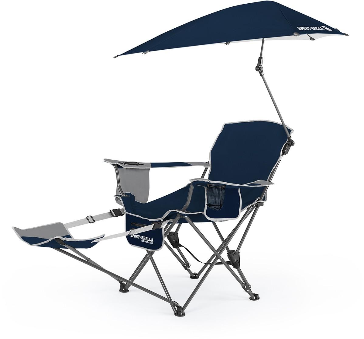 SKLZ Sport Brella Recliner Folding Chair W/ Umbrella U0026 Footrest