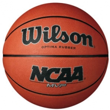Wilson NCAA MVP Rubber Basketball, WOMEN'S & YOUTH, 28.5""