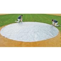 FieldSaver 30' diameter Home Plate Cover, WOVEN POLY