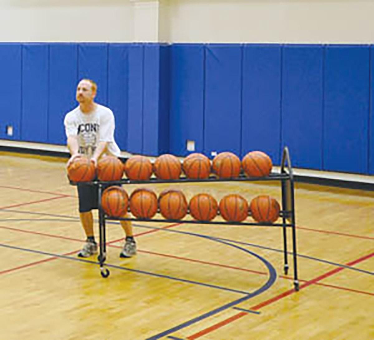 Jaypro Dtbr 19 Deluxe Basketball Training Ball Rack