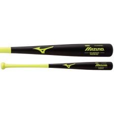 Mizuno MZB62 Classic Bamboo Baseball Bat, Black/Lime