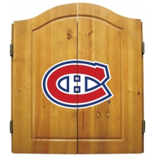 Montreal Canadiens NHL Dartboard Cabinet Set
