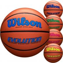 Wilson Official 29.5 Evolution Basketball, Navy, Royal, Green, Scarlet