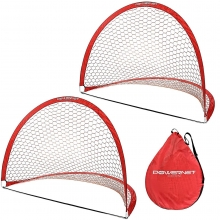 POWERNET 4' x 6' Round Pop Up Soccer Goal (2 Goals + 1 Bag)