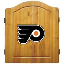 Philadelphia Flyers NHL Dartboard Cabinet Set