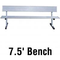 Jaypro PB-80 Aluminum Player Bench w/ Backrest, PORTABLE, 7.5'