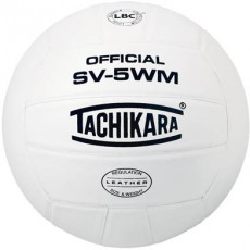 Tachikara SV5WM Leather Volleyball, WHITE