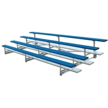 4 Row, 21' STANDARD Low Rise Powder Coated Bleacher, TR0421C
