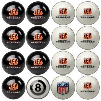 Cincinnati Bengals NFL Home vs Away Billiard Ball Set