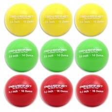 "POWERNET Weighted Training Baseball Set, 2.8"" (9)"