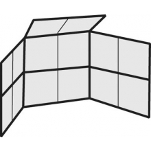 Permanent Baseball / Softball Backstop, 10' x 10', w/ Partial Hood