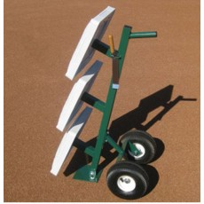 White Line Baseball/Softball Base Transport Cart