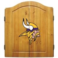 Minnesota Vikings NFL Dartboard Cabinet Set
