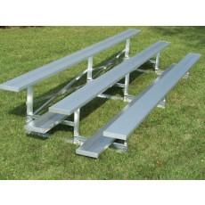 3 Row, 15' STANDARD Aluminum Bleacher