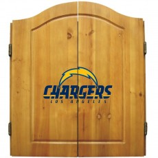 Los Angeles Chargers NFL Dartboard Cabinet Set