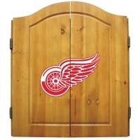 Detroit Red Wings NHL Dartboard Cabinet Set