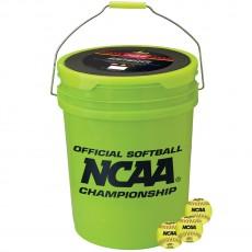 Rawlings 5 Gallon Bucket w/ 18 NC12BB Softballs, B518