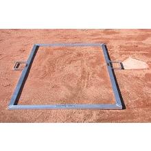 Jaypro BBTMOFF Folding Batter's Box Template, Adult Baseball, 4' x 6'