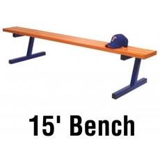 Jaypro Aluminum Player Bench, Powder Coated, PORTABLE, 15'