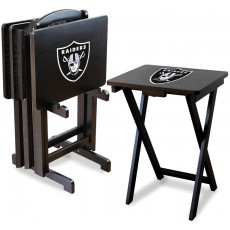 Oakland Raiders NFL TV Snack Tray/Table Set