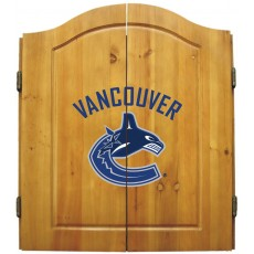 Vancouver Canucks NHL Dartboard Cabinet Set
