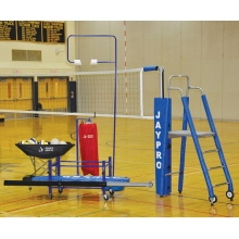 "Jaypro 3-1/2"" DELUXE Featherlite Volleyball Net Package, PVB-5PKGDX"