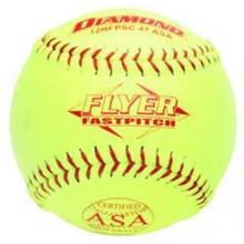 "Diamond 12RFPSC 47/375 ASA Synthetic Fastpitch Softballs, 12"", dz"