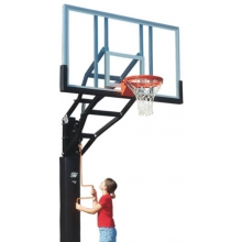 Bison 6'' Adjustable Glass Basketball Hoop, PR98G-BK