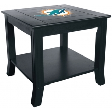 Miami Dolphins NFL Hardwood Side/End Table