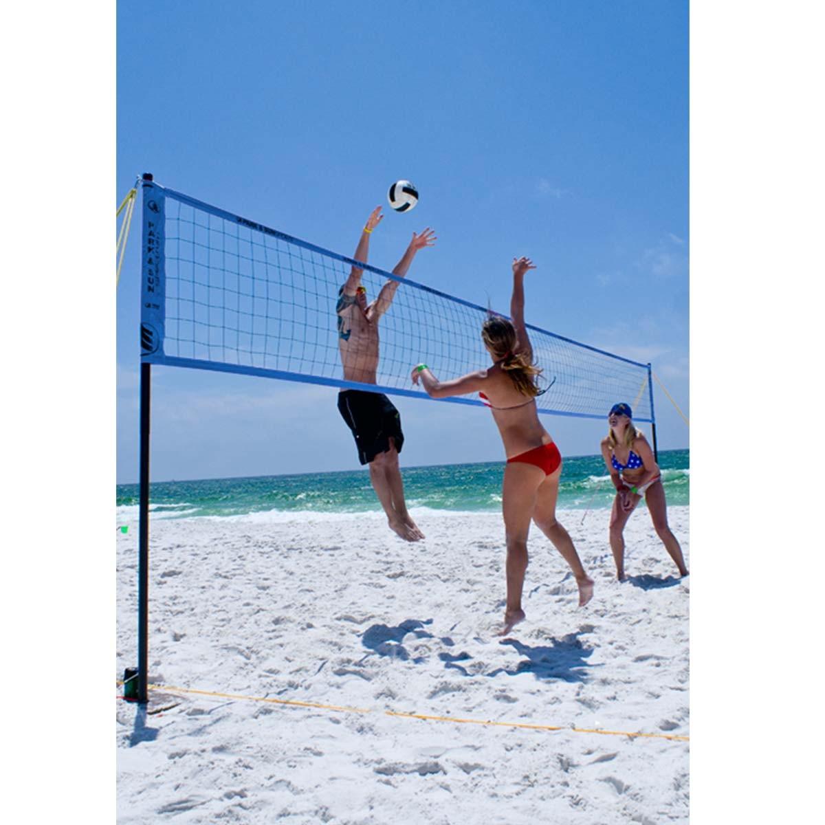 park u0026 sun spectrum 2000 outdoor volleyball net system