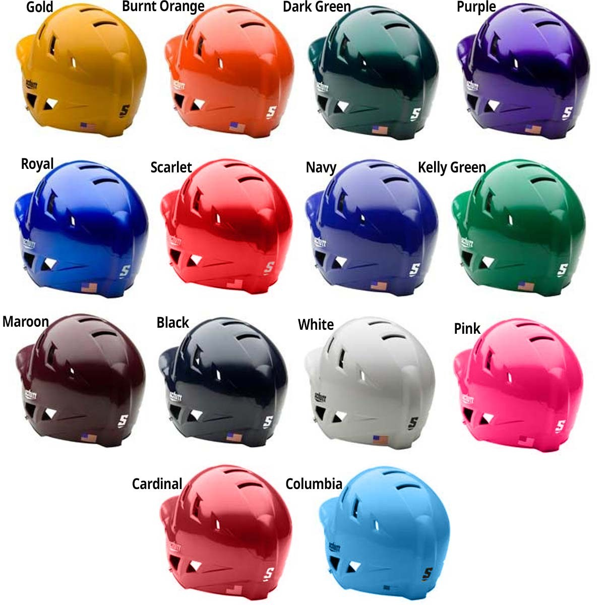 Solid/Matte helmet colors (Solid shown)