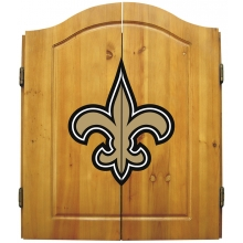 New Orleans Saints NFL Dartboard Cabinet Set