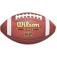 Wilson Pop Warner K2 Official Leather Football, under 10
