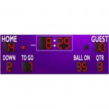 Sportable Scoreboards 7424 Football Scoreboard, 24'W x 8'H