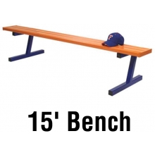 Jaypro 15' PORTABLE Aluminum Player Bench, Powder Coated, PB-15PC