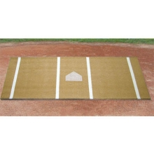 Baseball/Softball Hitter's Turf Mat, 6' x 12', Clay