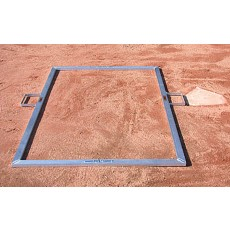 Jaypro BBTMOFF Folding Batter's Box Template, Adult Baseball, 4' x 6'