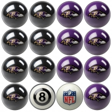 Baltimore Ravens NFL Home vs Away Billiard Ball Set