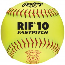 "Rawlings 12"" ASA RIF Level 10 Synthetic Fastpitch Softballs, R12RYSA , dz"