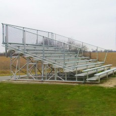 8 Row, 21' PREFERRED Large Capacity Bleacher
