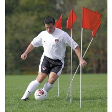 Kwik Goal Set/4 Course Markers/Corner Flags, 6B404