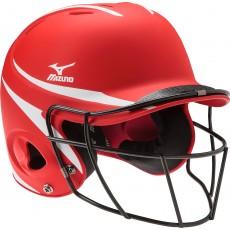 Mizuno MVP S/M Batter's Helmet w/Facemask, MBH252