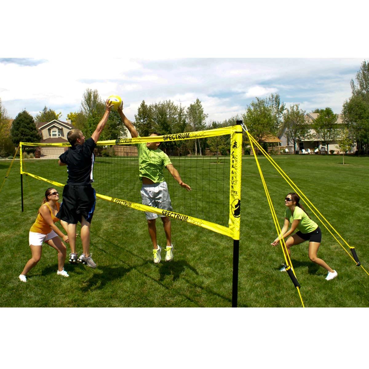 park u0026 sun spectrum classic outdoor volleyball net system
