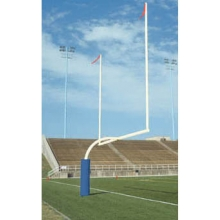 Bison Official High School Gooseneck Football Goal Posts, 5-9/16'' dia., WHITE, FB55HS-WT