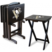 Pittsburgh Penguins NHL TV Snack Tray/Table Set